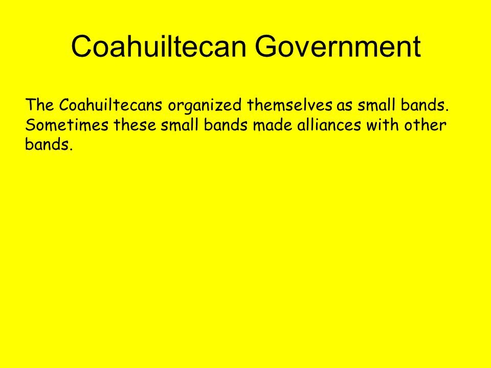 Coahuiltecan Government