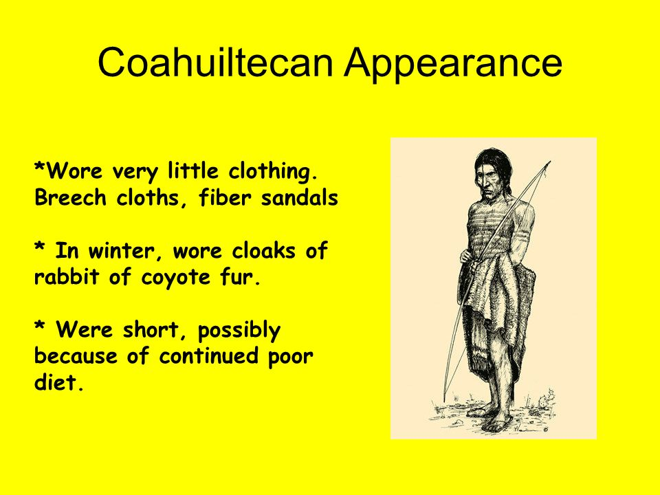 Coahuiltecan Appearance