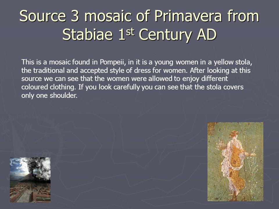 Source 3 mosaic of Primavera from Stabiae 1st Century AD