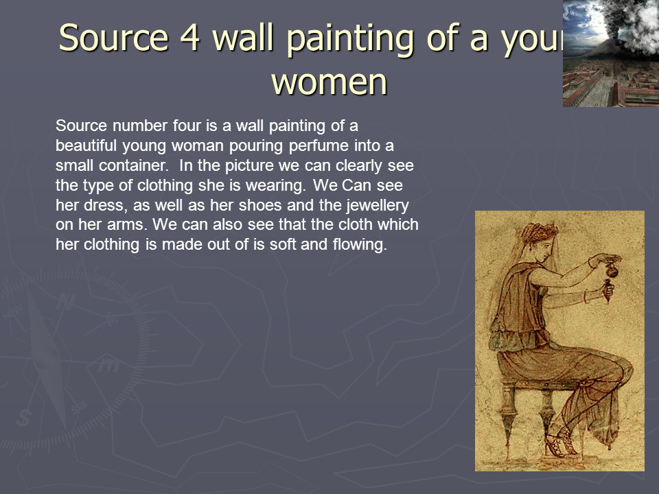 Source 4 wall painting of a young women
