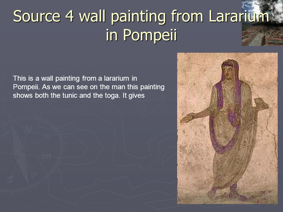 Source 4 wall painting from Lararium in Pompeii