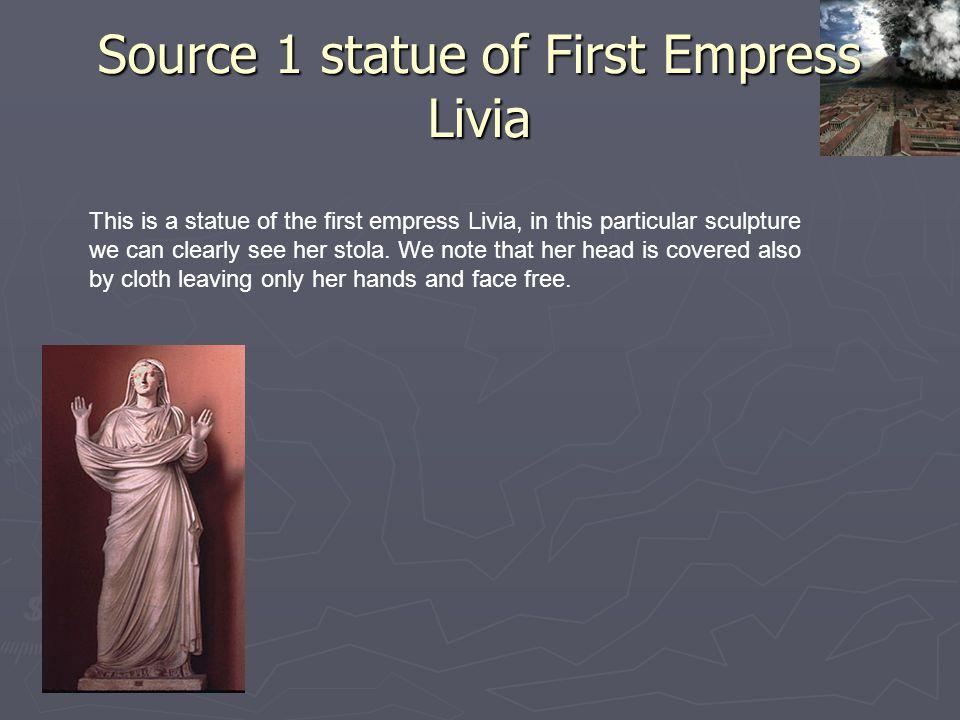 Source 1 statue of First Empress Livia