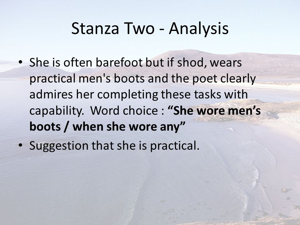 Stanza Two - Analysis