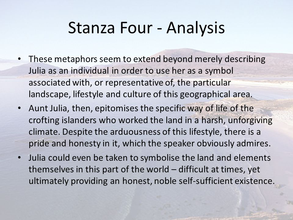 Stanza Four - Analysis