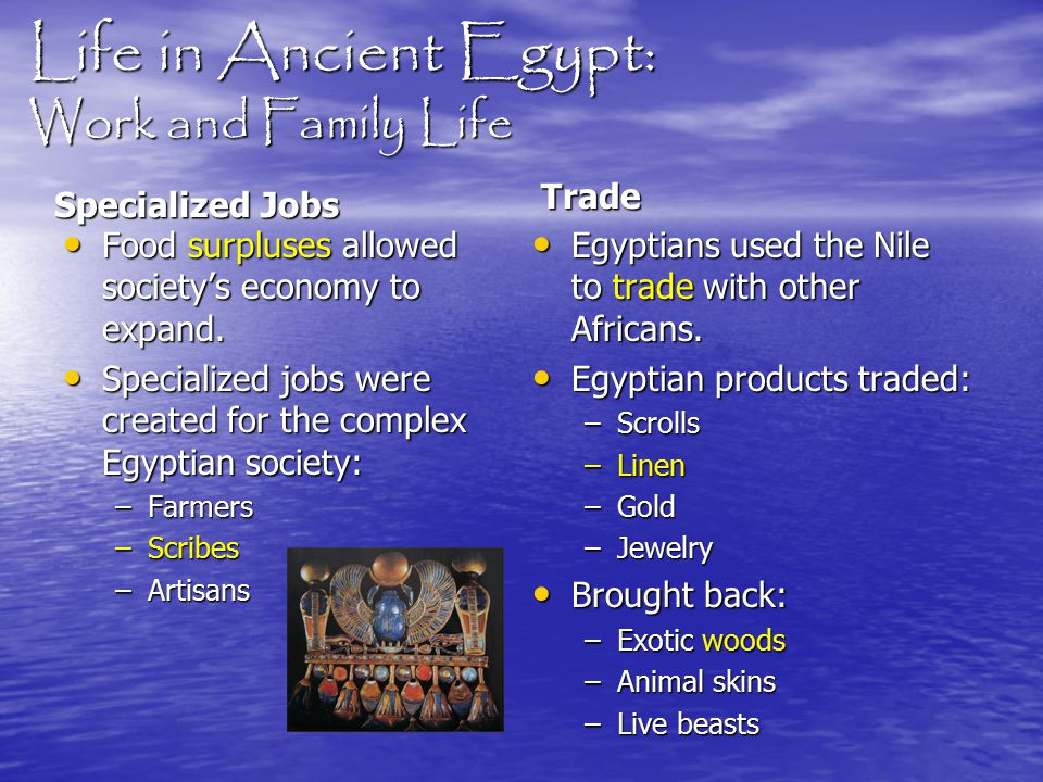 Life in Ancient Egypt: Work and Family Life