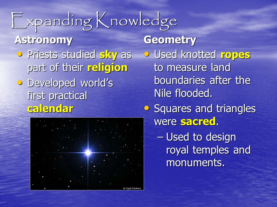 Expanding Knowledge Astronomy Geometry