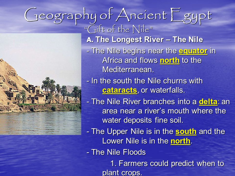 Geography of Ancient Egypt Gift of the Nile