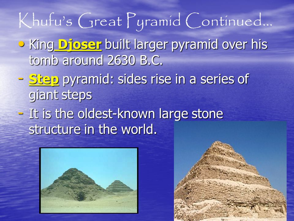 Khufu's Great Pyramid Continued…