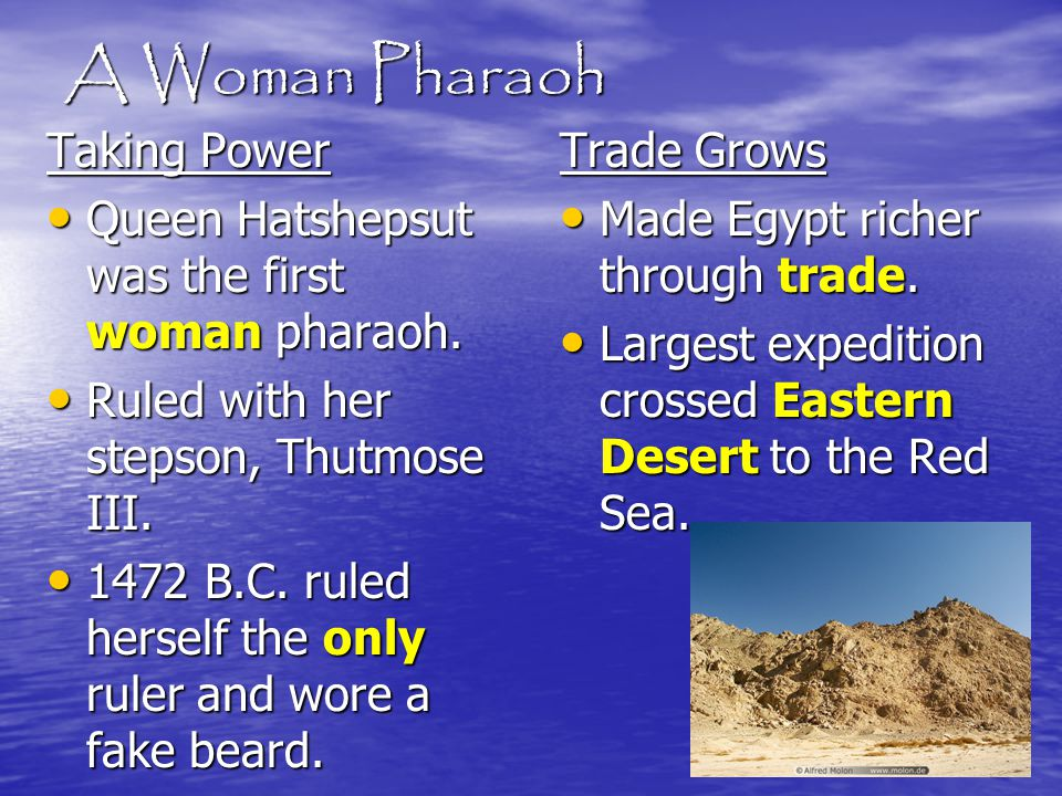 A Woman Pharaoh Taking Power