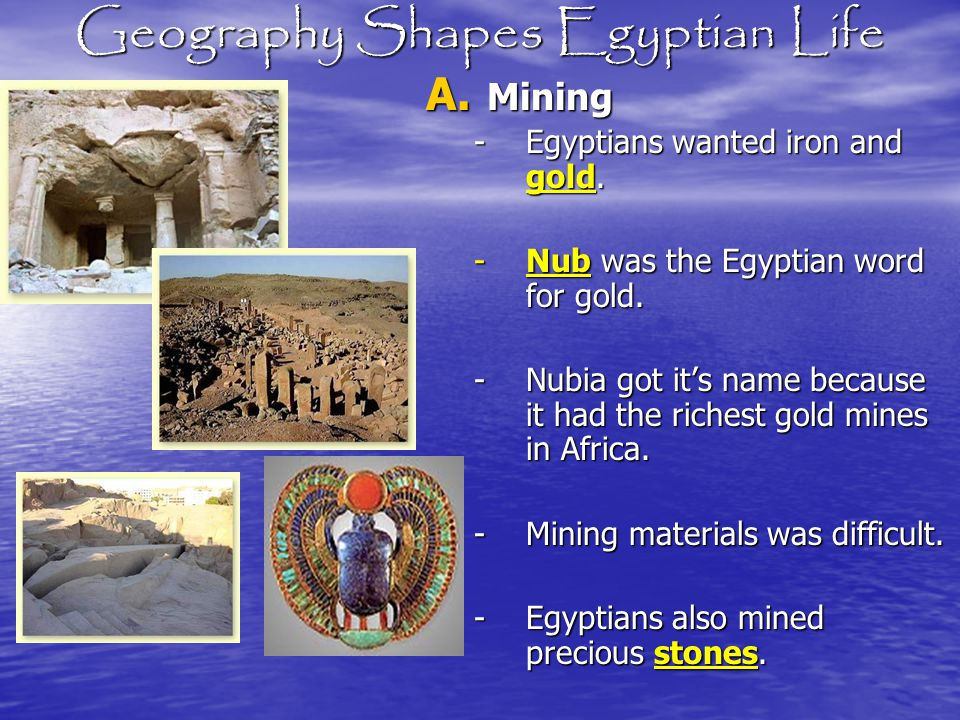 Geography Shapes Egyptian Life