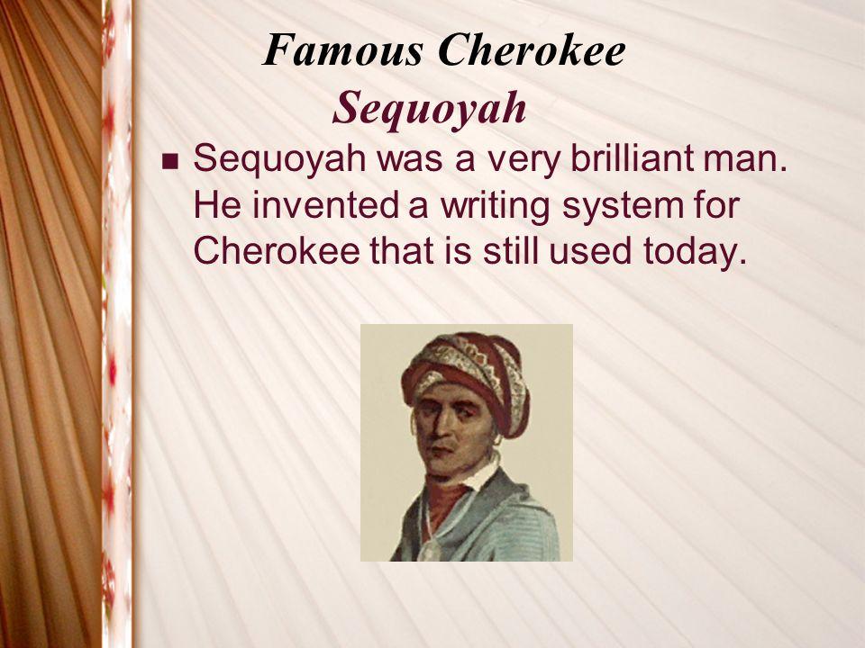 Famous Cherokee Sequoyah