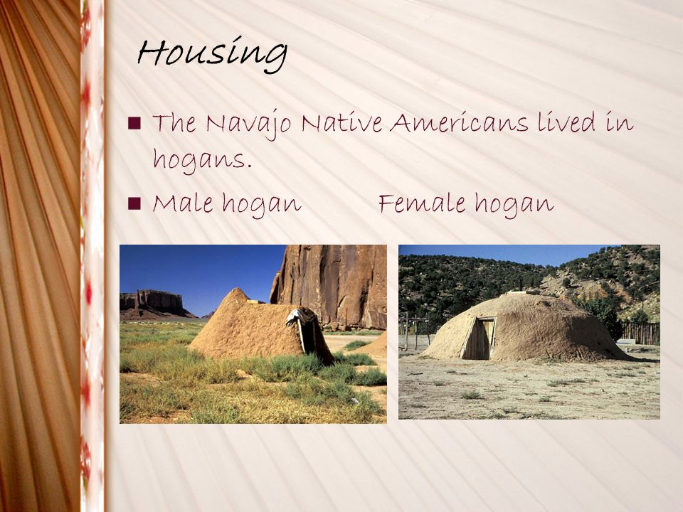Housing The Navajo Native Americans lived in hogans.