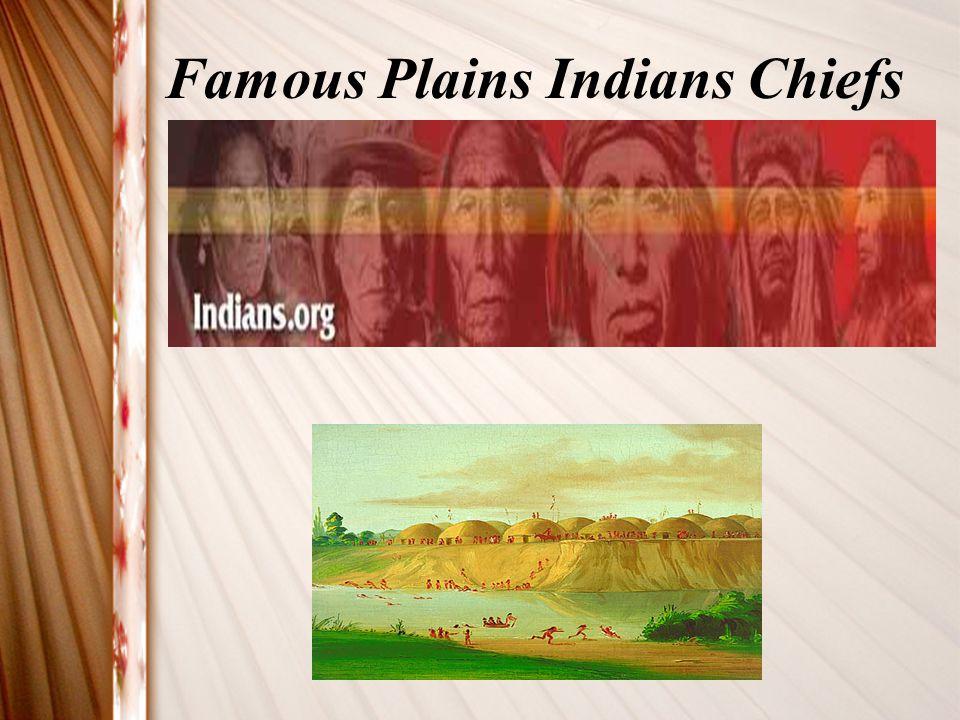 Famous Plains Indians Chiefs
