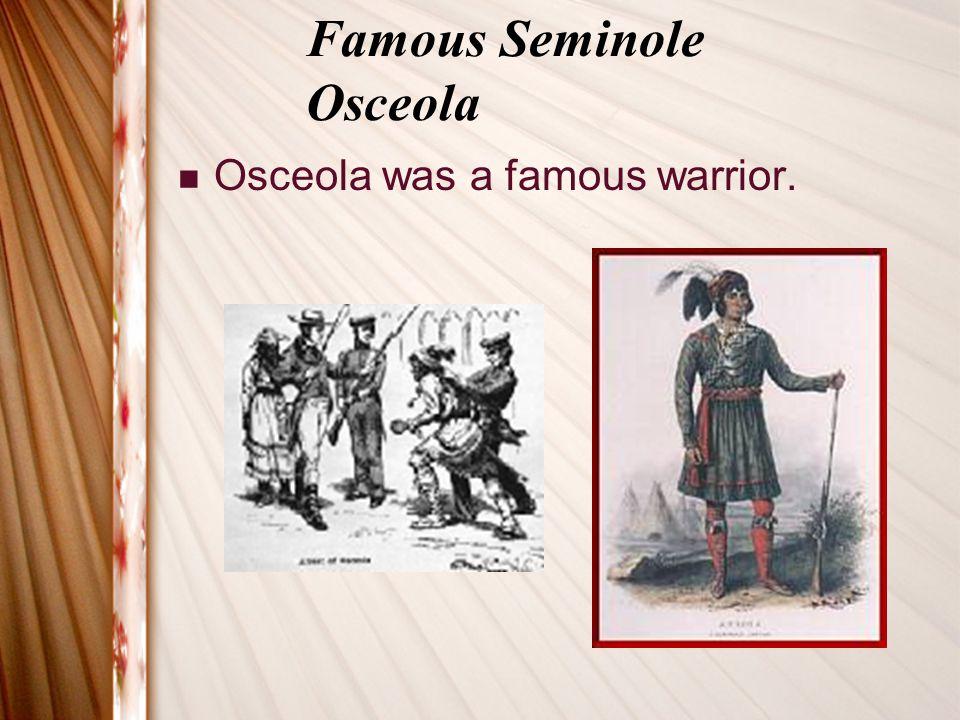 Famous Seminole Osceola