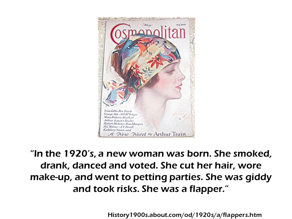In the 1920's, a new woman was born