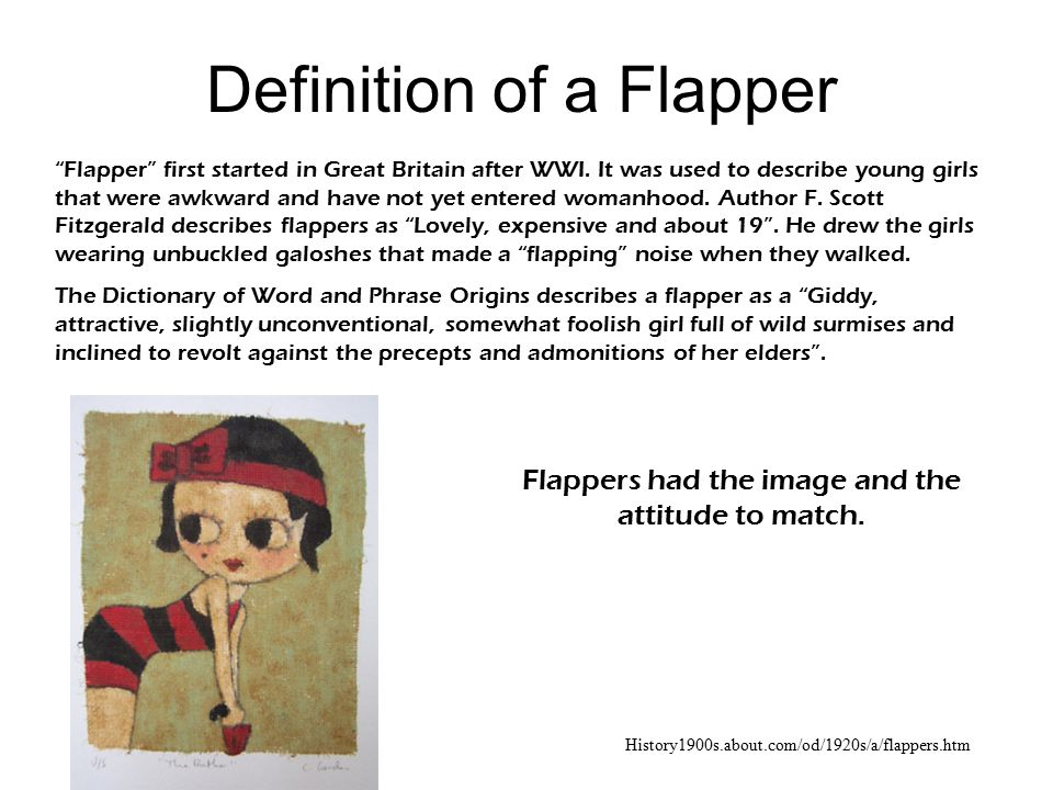 Definition of a Flapper
