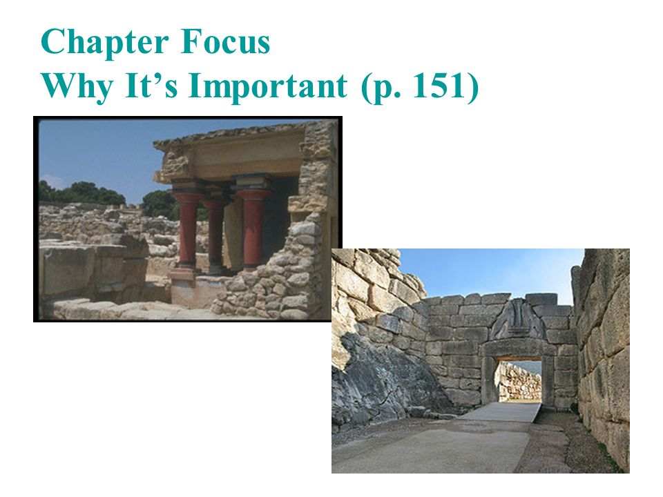Chapter Focus Why It's Important (p. 151)