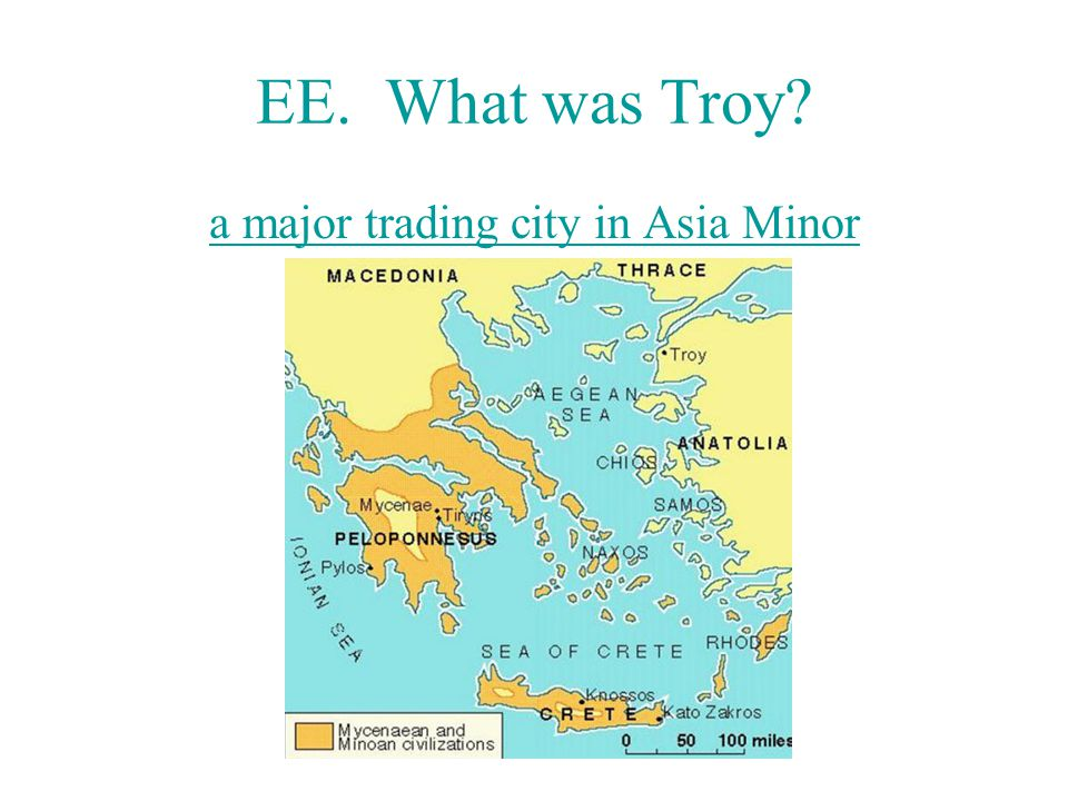 a major trading city in Asia Minor
