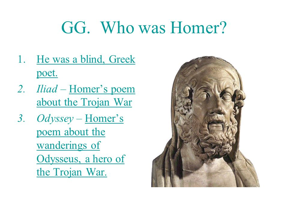an analysis of the work of homer an ancient greek blind poet