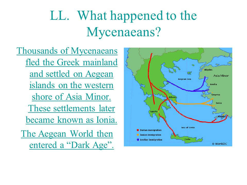 LL. What happened to the Mycenaeans