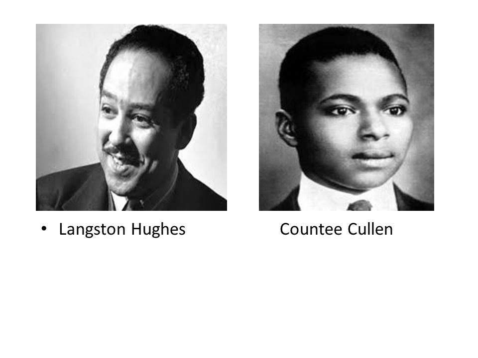 Langston Hughes Countee Cullen