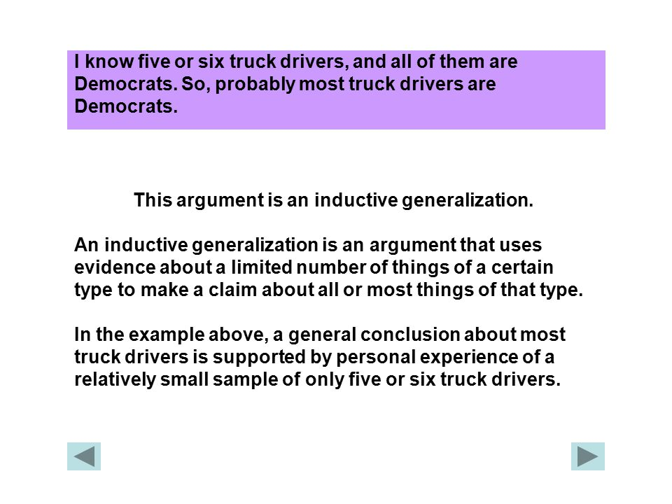 This argument is an inductive generalization.