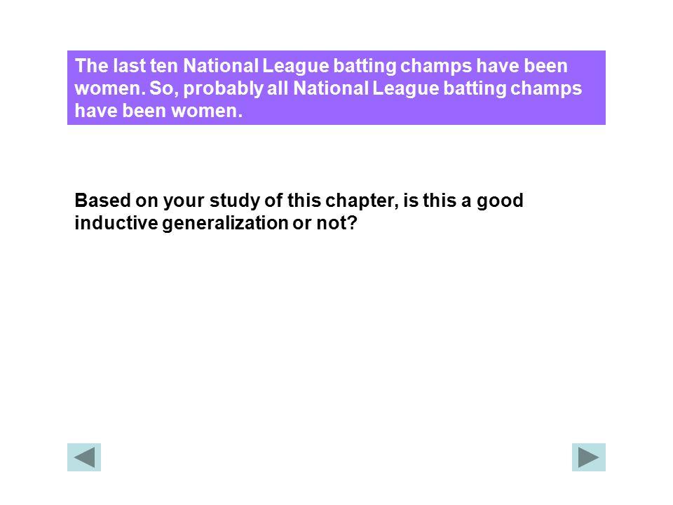 The last ten National League batting champs have been women