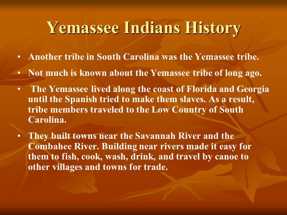 Yemassee Indians History