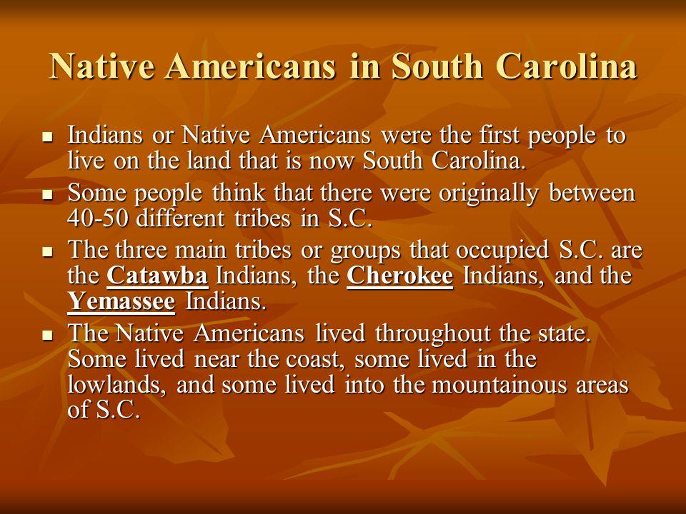 Native Americans in South Carolina