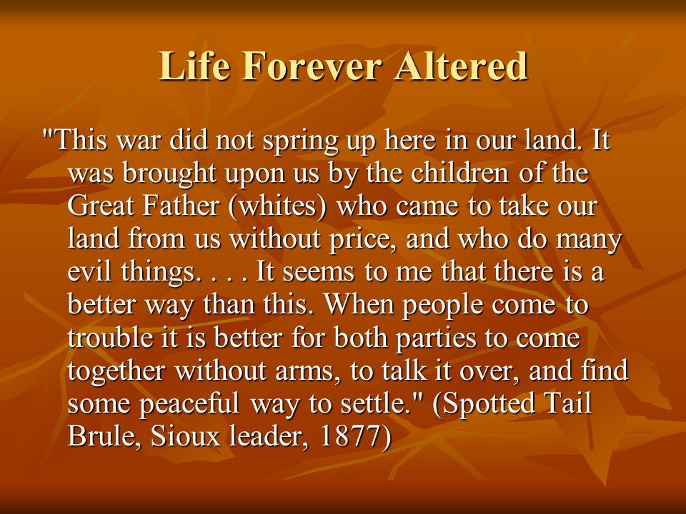 Life Forever Altered