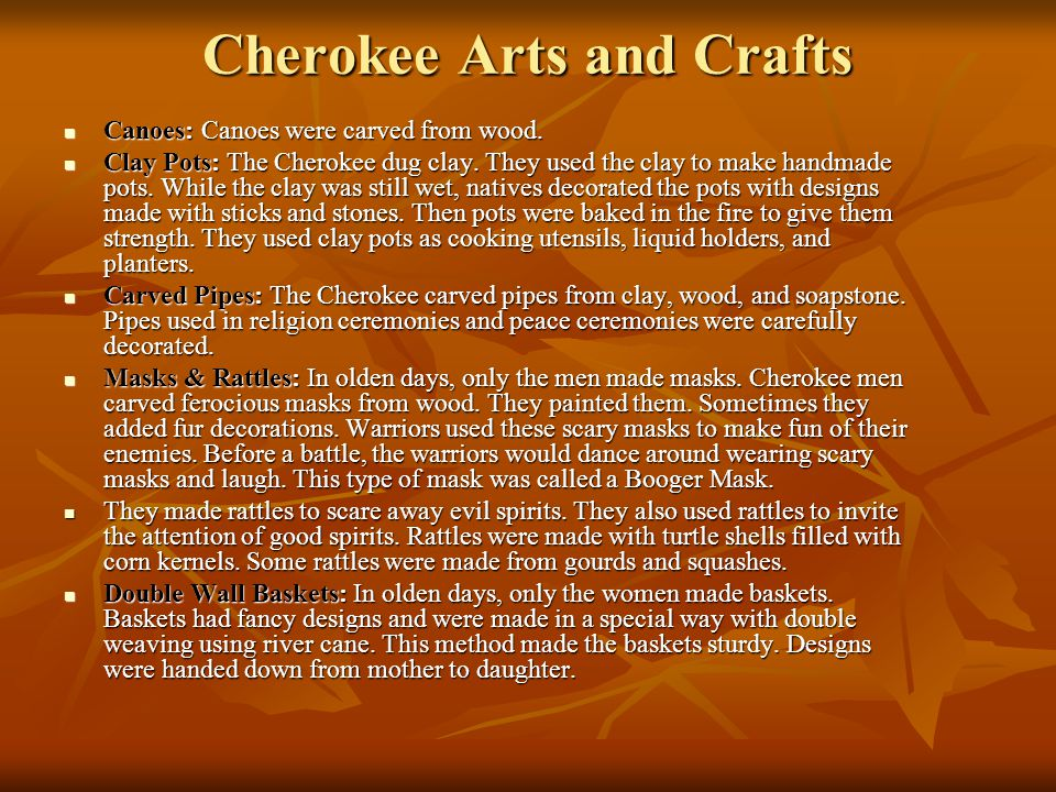 Cherokee Arts and Crafts
