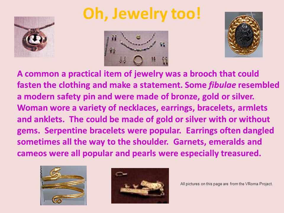 Oh, Jewelry too!