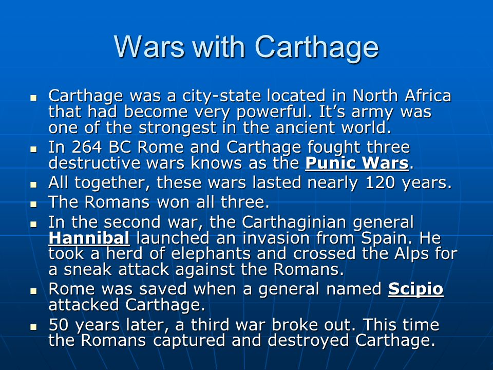 Wars with Carthage