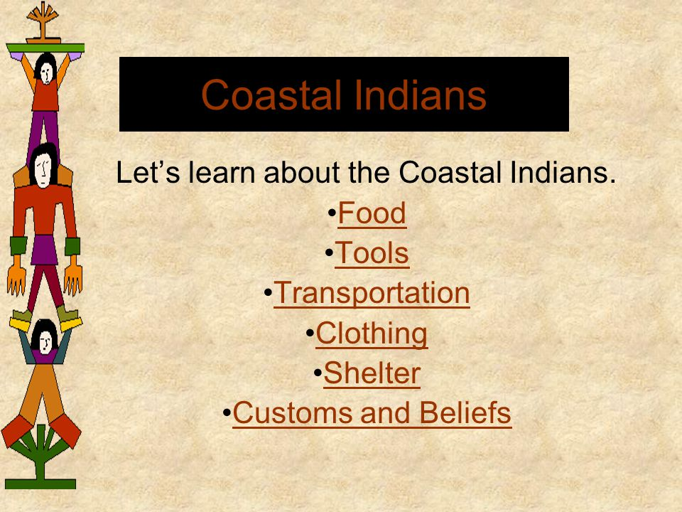 Let's learn about the Coastal Indians.