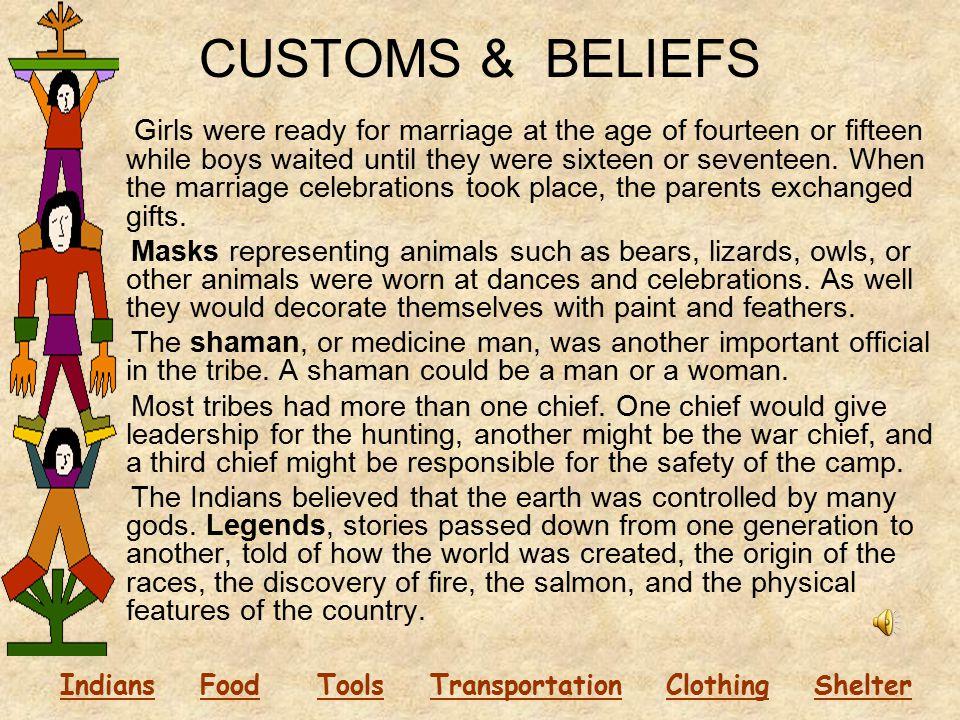 CUSTOMS & BELIEFS