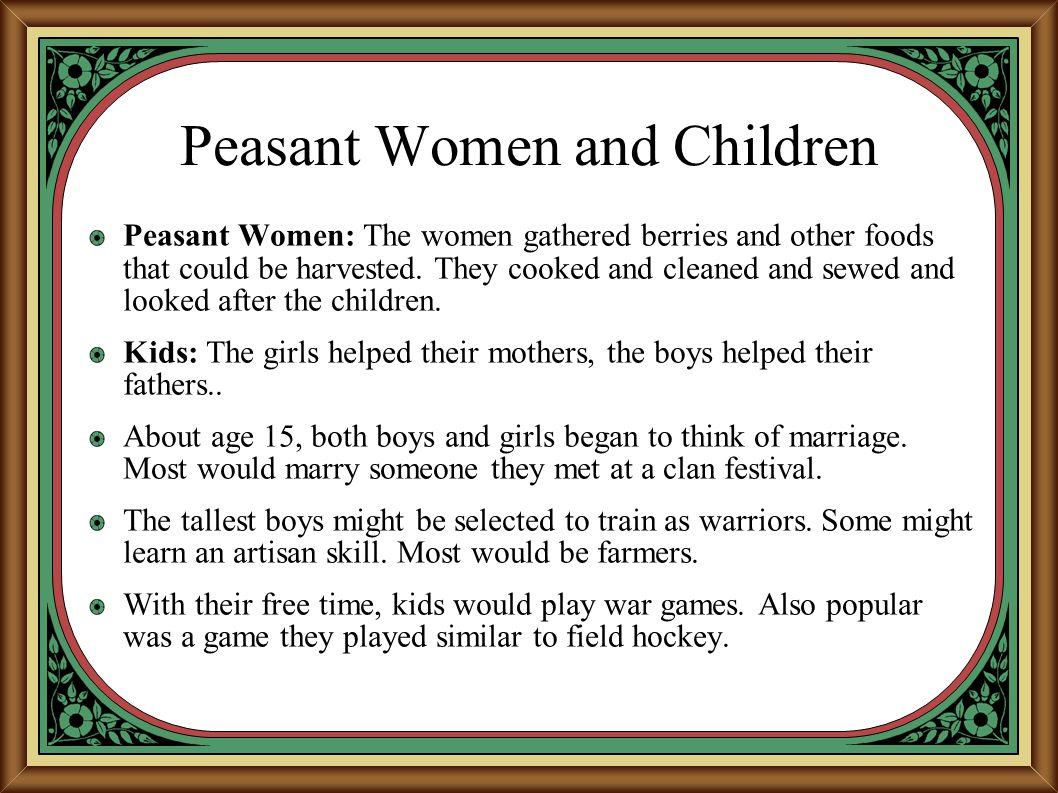 Peasant Women and Children