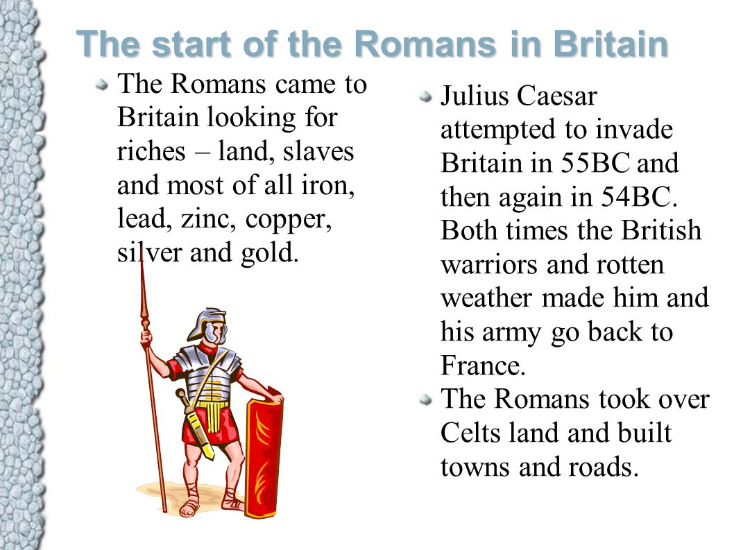 The start of the Romans in Britain