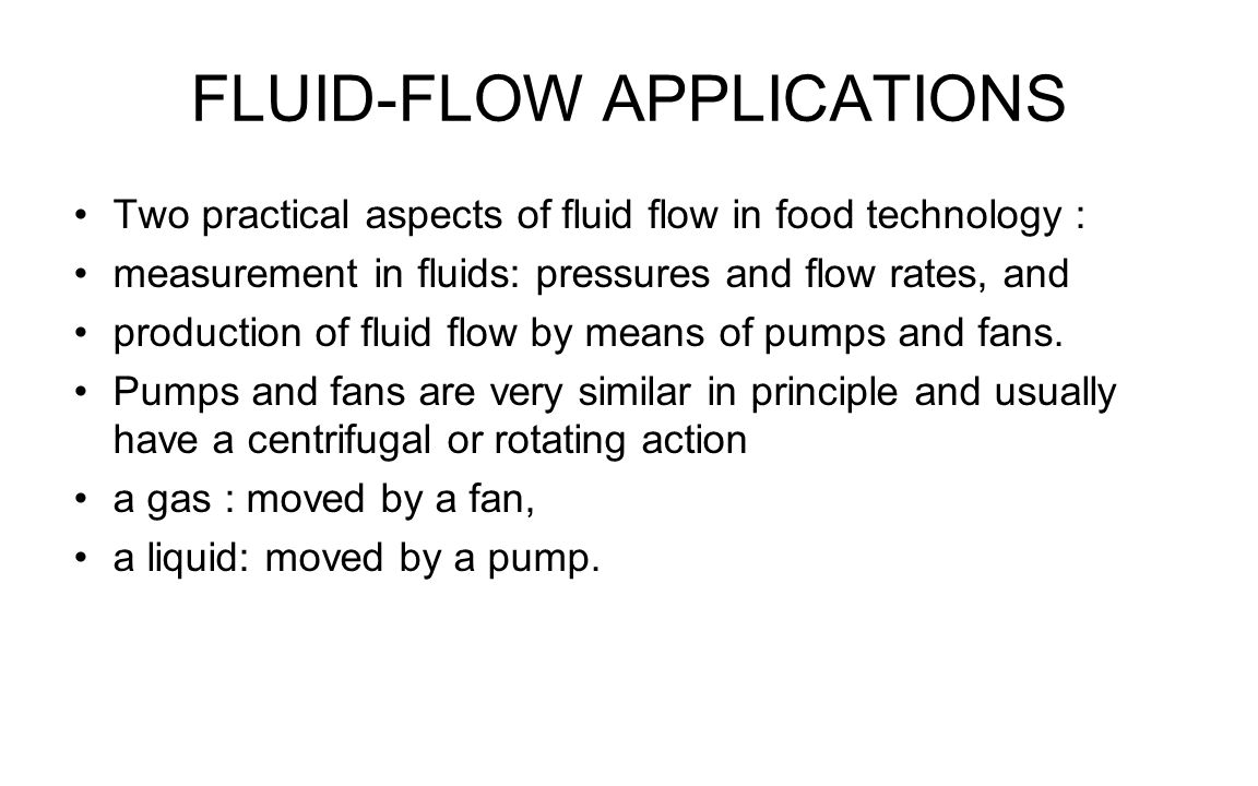 FLUID-FLOW APPLICATIONS