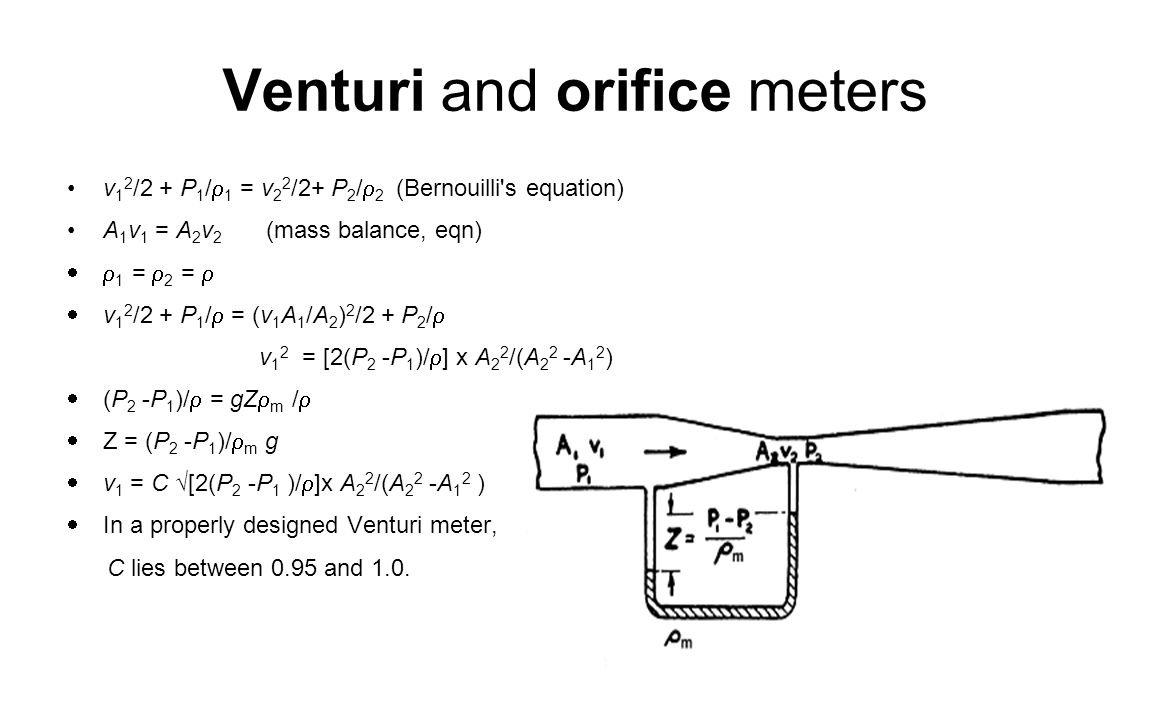 Venturi and orifice meters