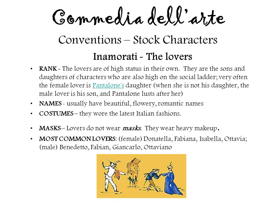 Commedia dell'arte Conventions – Stock Characters
