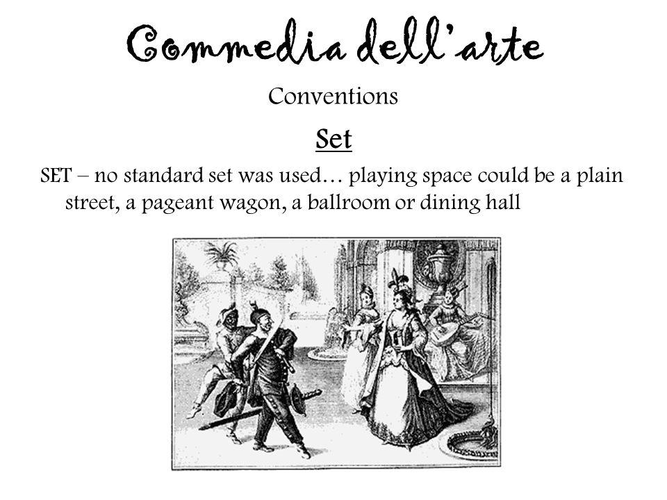 Commedia dell'arte Conventions