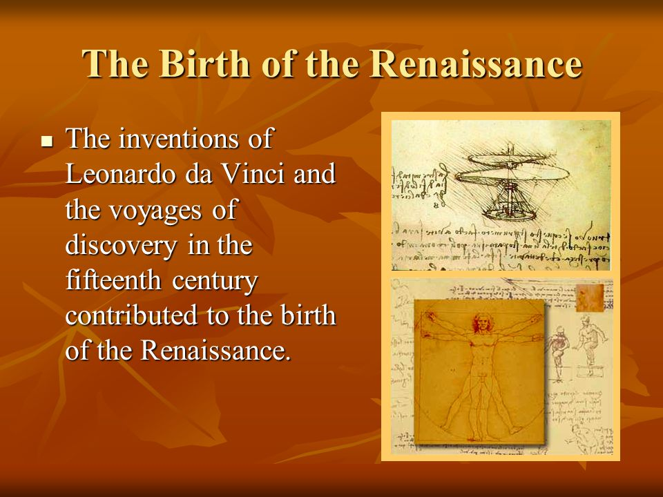 The Birth of the Renaissance