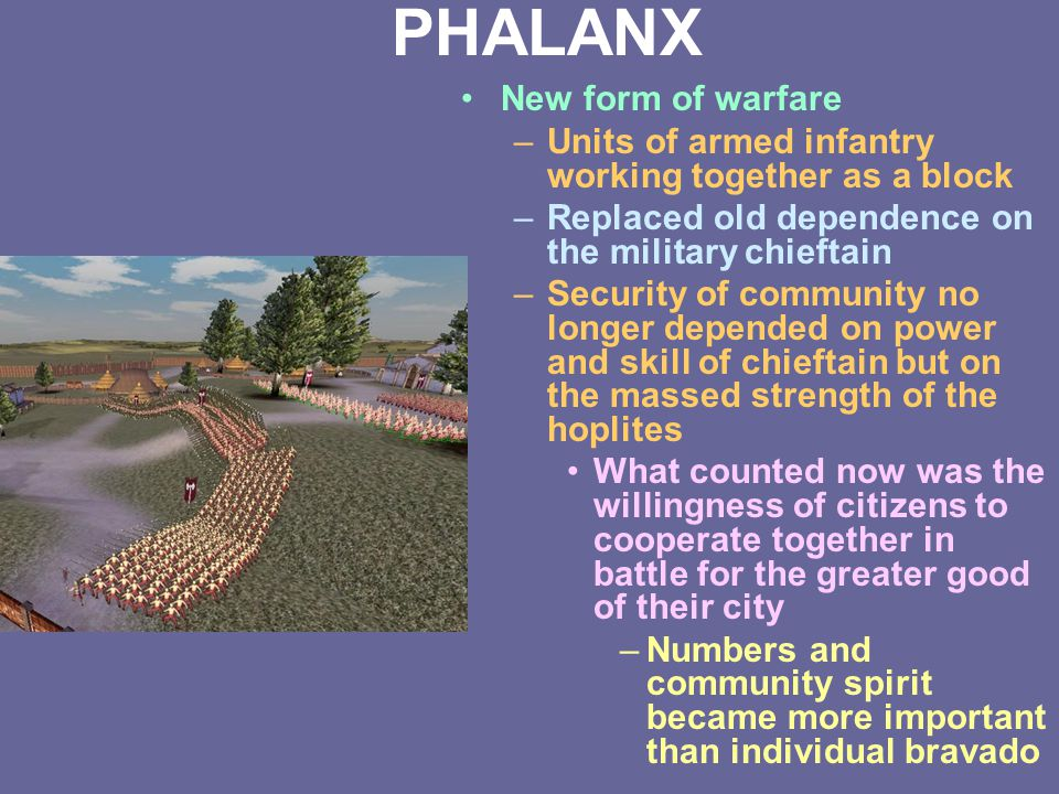 PHALANX New form of warfare