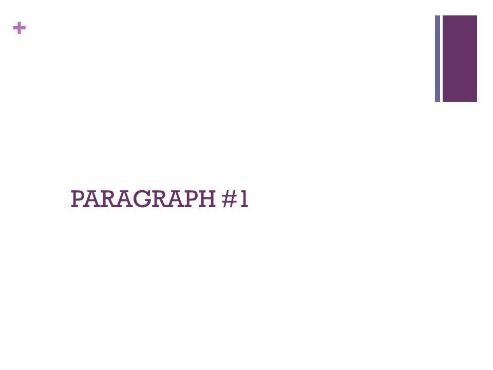 PARAGRAPH #1