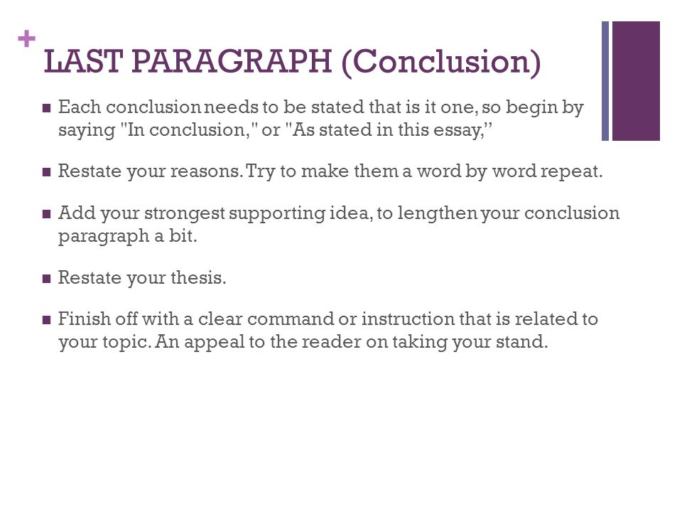 good conclusion paragraph for abortion essay Use this list of 20 essay conclusion examples that essay conclusions are (learn more about writing argumentative essays) a final word on final paragraphs.