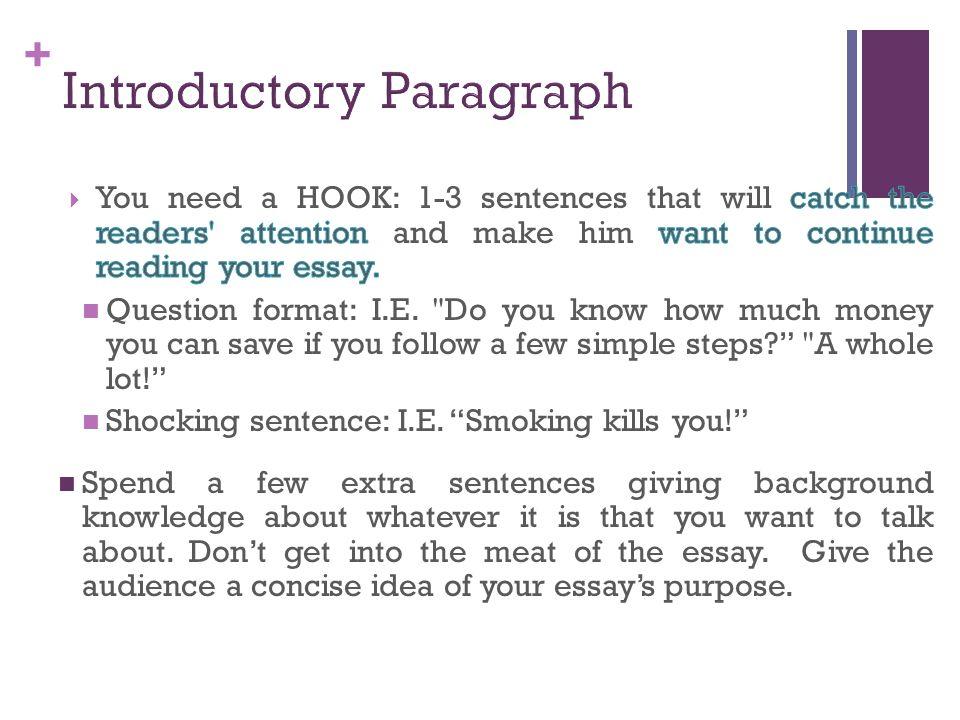 persuasive essay introduction format Opening paragraph in a persuasive essay this introduction is your only introduction to a persuasive essay here are some sample persuasive essay topics:.