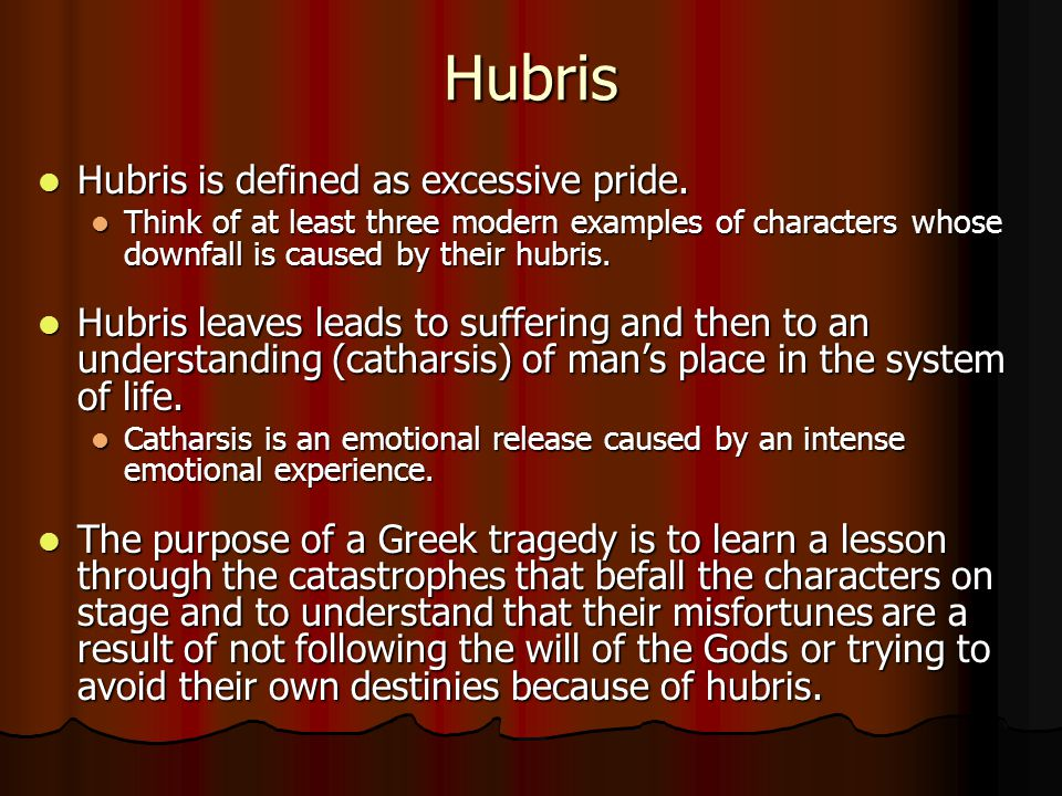 hubris greek definition