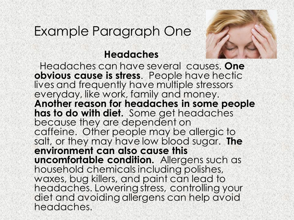 Example Paragraph One Headaches
