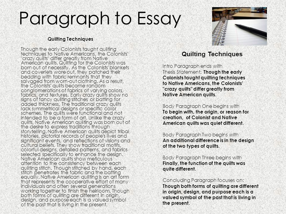 writing essays ppt  paragraph to essay quilting techniques quilting techniques