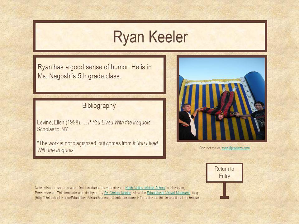 Contact me at ryan@keelers.com
